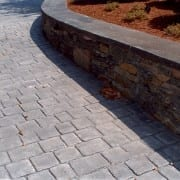 sonte wall and stamped conccrete