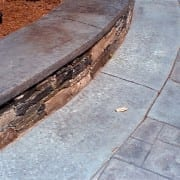 stamped concrete detail