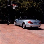stamped concrete basketball court