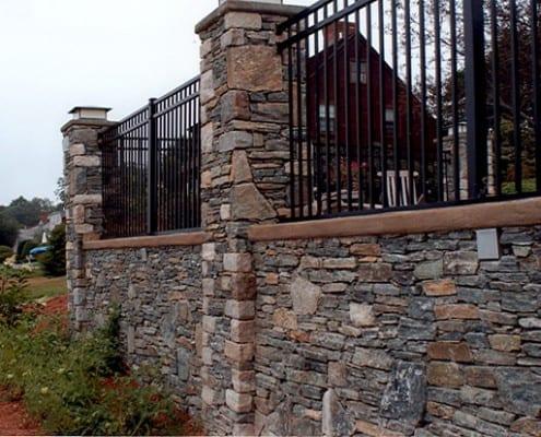 fieldstone wall