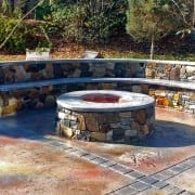 hardscaping outdoor fireplace