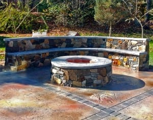 custom outdoor fireplace - outdoor firepit