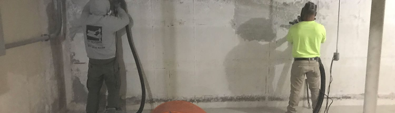 foundation-wall-prep-respiratory-equipment