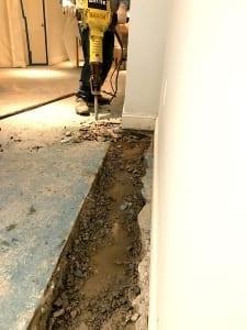 basement waterproofing in rhode island interior french drain installation