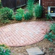 natural brick patio