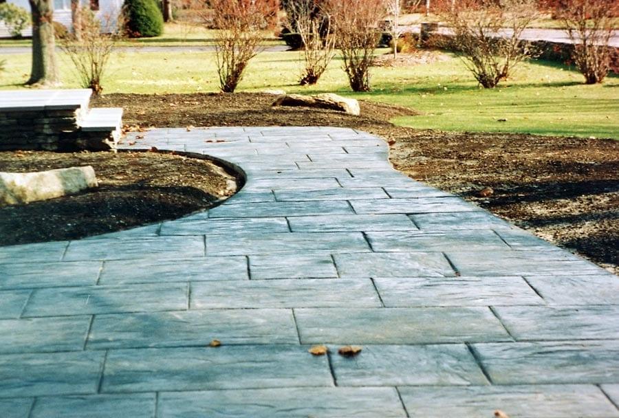 Stamped Concrete, Bluestone Stacked Pattern