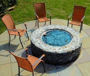 custom outdoor stone firepit
