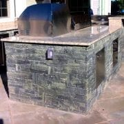 Outdoor bar and kitchen area