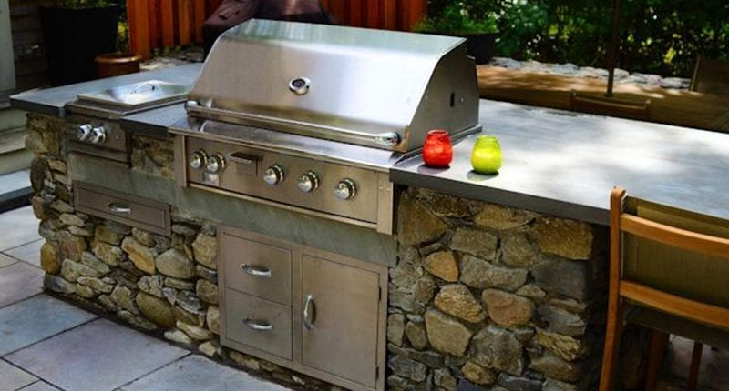 Outdoor grill and cooking area