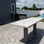 Outdoor Table With Concrete Posts
