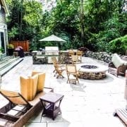 Stone Firepit, Grill Area, Hot Tub