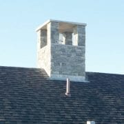 Chimney with Through Flashing